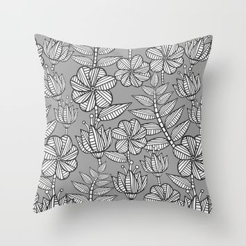 Kenia flowers in grey Art Print by Juliagrifol Designs