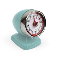 KIKKERLAND LIGHT BLUE VINTAGE STREAMLINE KITCHEN TIMER