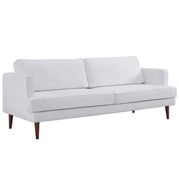Agile Upholstered Fabric Sofa White EEI-3057-WHI