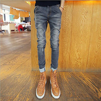 Ripped Designer Bleached Men Slim Fit Jeans