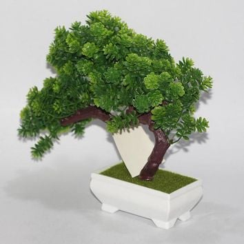 New Platic Artificial Plants Landscape Tree Ceramics Bonsai Tree Pot Culture For Office Home Living Room Furnishings Decorative