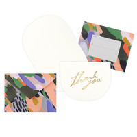 Petra Crescent Folded Thank You Cards Boxed