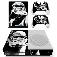 Vinyl Star Wars Skin Sticker for the Xbox One S Console With Two Wireless Controller Decals