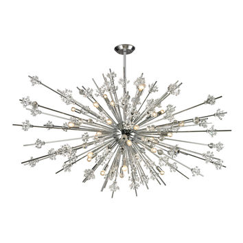ELK Starburst Collection 31 light chandelier in Polished Chrome - 11754/31