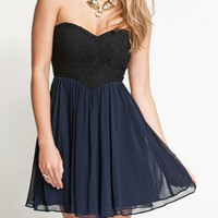 funshop — SWEET BLACK LACE DRESS