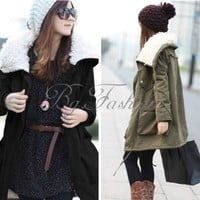 Fashion Womens Warm Zip Fleece Winter Coat Jacket Outwear Parka 6 Colors
