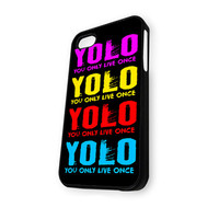 YOLO YOu Only Live Once Full Color iPhone 5C Case