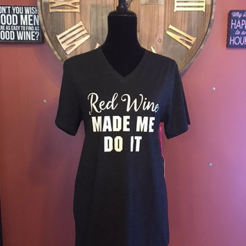 Red ... Made Me Do It (Black) Short Sleeve T-Shirt By KatyDid