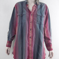 vintage ombre gradient button shirt Panhandle by Mothballz