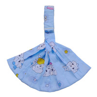 100% Cotton Newborn Baby Carrier Multifunction Straps Simple Sling Blue Dog