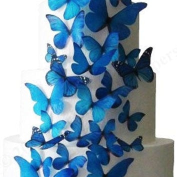 The Stella - 30 Edible Butterflies - Wedding Cake Decorations, Cake Toppers, Cake Design, Celebration Cakes