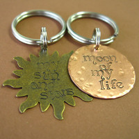 Game of Thrones Key Chain Set - Khal Drogo and Daenerys - My Sun and Stars - Moon of My Life