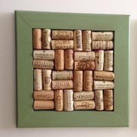 Green Wine Cork Trivet, pot holder, handmade trivet, bar decor, wine cork trivet, wood trivet,