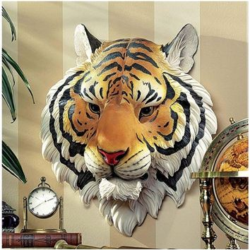 SheilaShrubs.com: Indochinese Tiger Wall Sculpture JE122315 by Design Toscano: Indoor Sculptures & Statues
