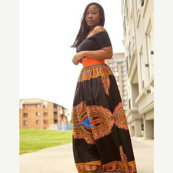 LABOUR DAY SALE New Dashiki Maxi  African print skirt.