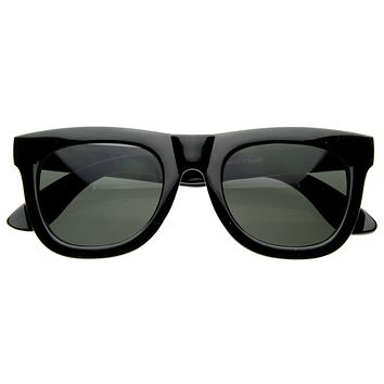 Designer Super Retro Thick Frame Indie Horned Rim Sunglasses 8164