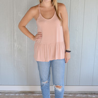 Think About Pink Ruffle Top