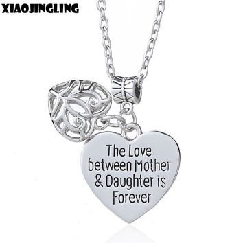 """The Love Between Mother & Daughter Is Forever"" Heart Pendants Necklaces for Women"