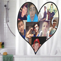 "magcon boy family christmas gift, Custom Shower curtain, Sizes available size 36""w x 72""h 48""w x 72""h 60""w x 72""h 66""w x 72""h"