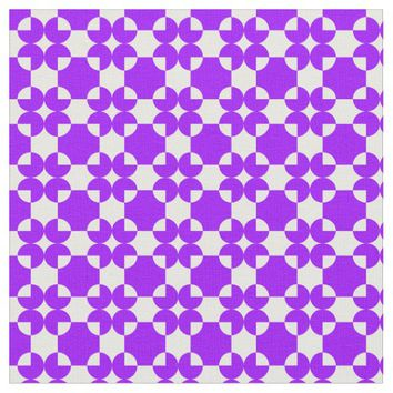 Circle square shapes purple mauve pattern colors fabric