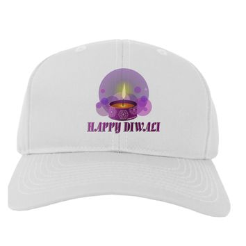 Happy Diwali Purple Candle Adult Baseball Cap Hat by TooLoud