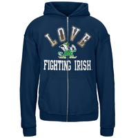Notre Dame Fighting Irish - Glitter Love Girls Juvy Hoodie