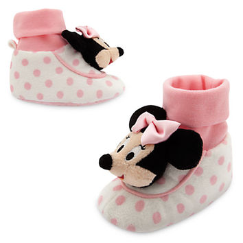 Minnie Mouse Plush Slippers for Baby | Disney Store