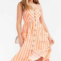 Cooperative Emilia Linen Button-Down Midi Dress - Urban Outfitters