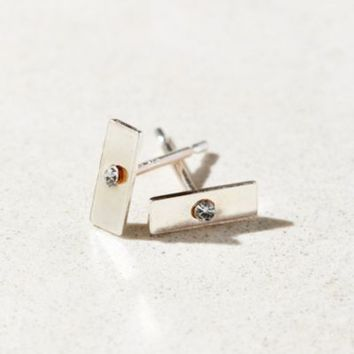 Sterling Silver + 18k Gold Plated Stud Earring
