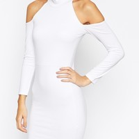 ASOS PETITE Exclusive Bodycon Dress With Cold Shoulder