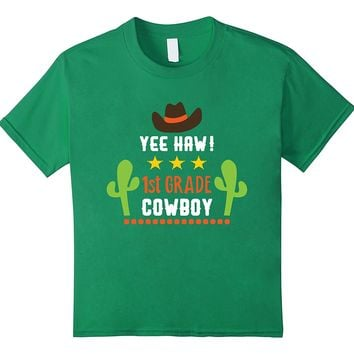 First Grade Western Cowboy First Day Back To School T-shirt