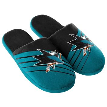 San Jose Sharks Big Logo Slide Slippers New Style NHL