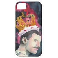 Queen Freddie Mercury in Crown illustration iPhone 5 Cover