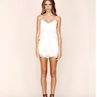 Without Suspense Romper in white by The Jetset Diaries | Women's Clothing - Hunters and Gatherers