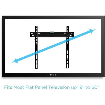 "Low-Profile TV Wall Mount for 19""-60"" TVs with HDMI Cable, UL Certified - Walmart.com"