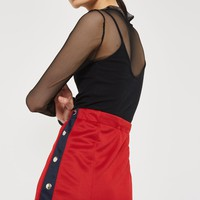 Sporty Popper Mini Skirt | Topshop