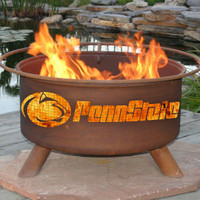 Penn State Nittany Lions NCAA Portable Outdoor Grilling Fire Pit