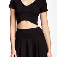 V-Neck Crop Tee (Juniors)
