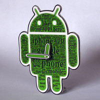 Android Icon Table Clock mini cute robot