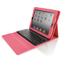 Bluetooth Keyboard with Portfolio Case for iPad Tablet