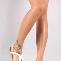 Qupid Tear Drop Thong Flat Sandal