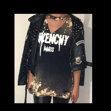 DCCKDW7 Givenchy inspired distressed tee