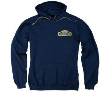 Polar Express Movie Train Conductor Licensed Adult Pullover Hoodie