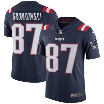 Men's New England Patriots Rob Gronkowski Nike White Limited Jersey