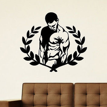 WALL DECAL VINYL STICKER SPORT GYM FITNESS BODY-BUILDING DECOR SB841