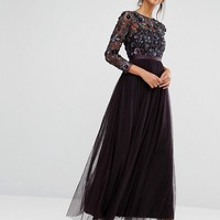 Needle & Thread Tulle Floral Gown at asos.com