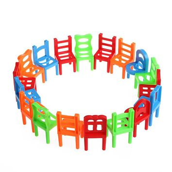 Desk Educational Toy Balance Stacking Chairs For Kids Play Desktop Game