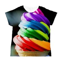 RAINBOW ICE CREAM Women's All Over Print T-Shirt