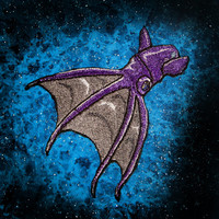 "The Lovely Vampire Squid from Hell ""Vampyroteuthis infernalis""  Iron on Patch Void Purple"