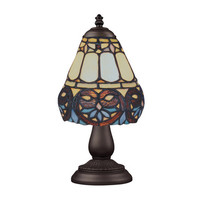 Landmark Lighting 080-TB-21 Mix & Match Section Tiffany Bronze Table Lamp